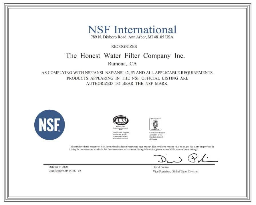 NSF Standard 53 Image